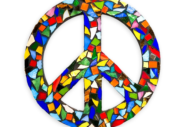 Peace Sign DIY Kit - Mosaic Stained Glass