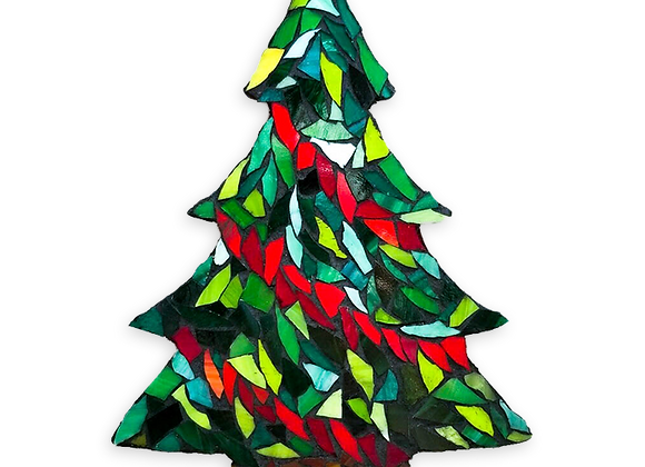 DIY Christmas Tree Kit - Mosaic Stained Glass