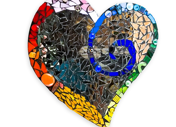 DIY Heart Kit - Mosaic Stained Glass