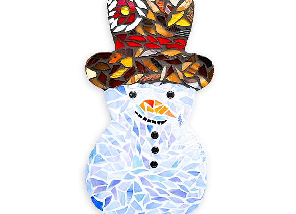 DIY Snowman Kit - Mosaic Stained Glass