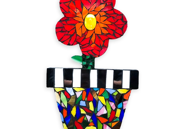 DIY Flower Pot Kit - Mosaic Stained Glass