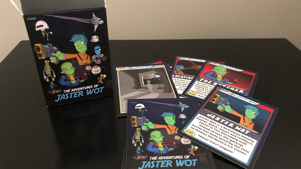 The Adventures of Jaster Wot Collector Cards (Part 1) Complete set of 35.