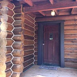 log cabin door