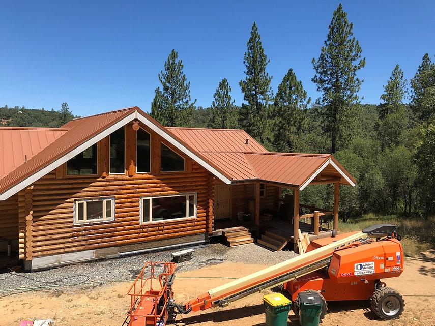 log cabin restoration