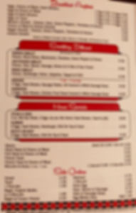 Courtesy Diner menu Slinger St. Louis STL retro Hoosier Hangover chili cheap eats shakes pie biscuits and gravy bacon sausage eggs omelets