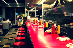 Courtesy Diner Hampton jukebox STL St. Louis South city clean retro