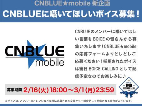 CNBLUE日本デビュー10周年記念 モバイルFC「CNBLUE★mobile」限定企画「CNBLUEに囁いてほしいボイス」募集開始!