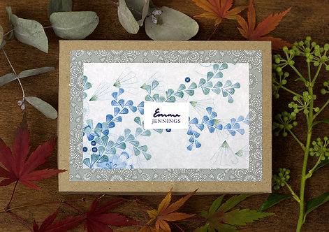 'Meandering Leafvine' Box of 10 Blank Art Cards