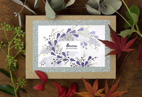 'Bonsai Leafvine' Box of 10 Blank Art Cards