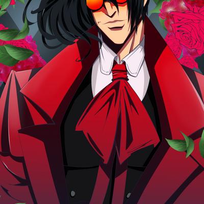 Alucard with Glasses: Hellsing Fan Art