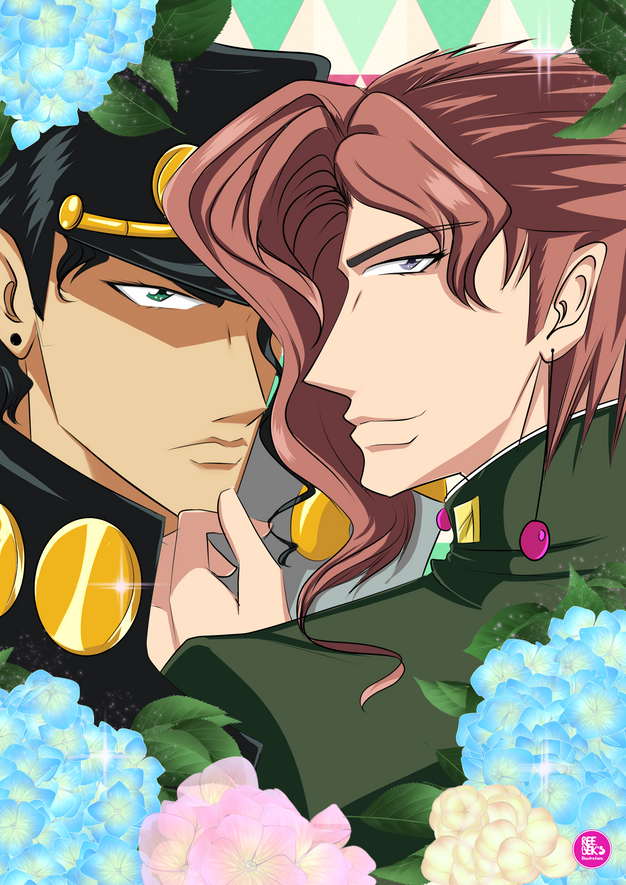Jojo Bizzare Adventure - Kakyoin and Jotaro