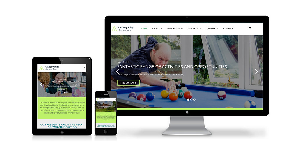 New website design for this Berkshire charity