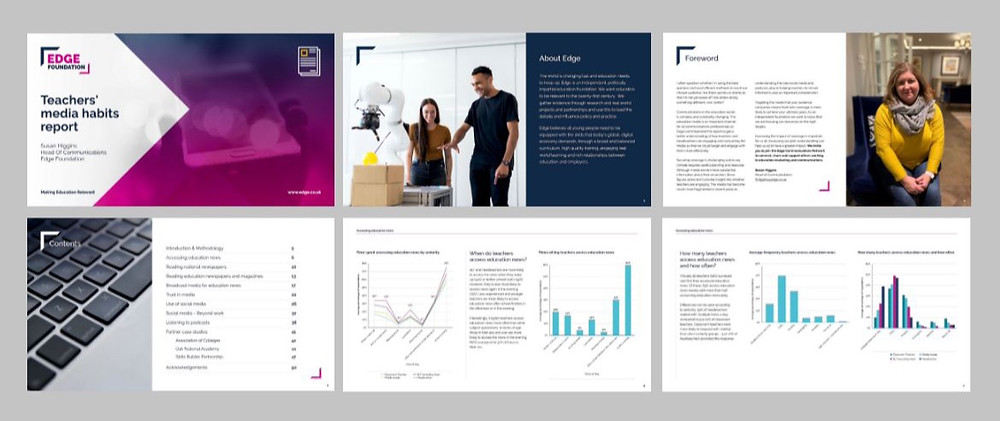 New report formant following the new brand identity for Edge Foundation