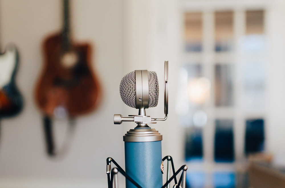 A podcasting microphone