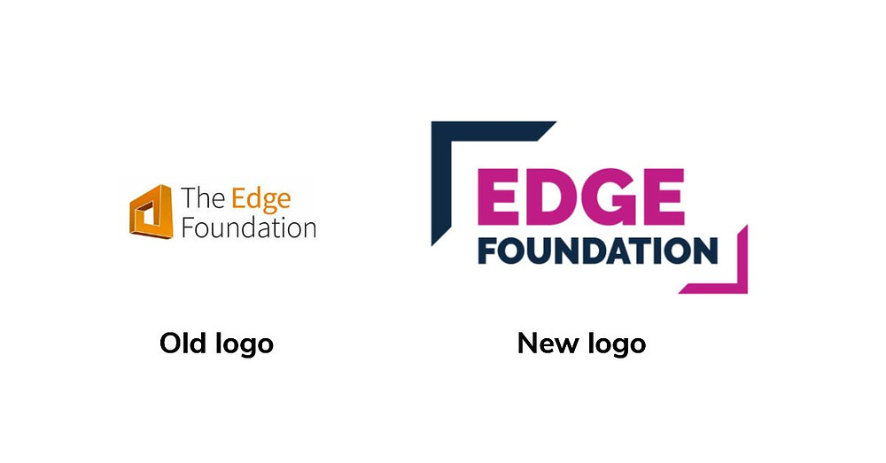 Old and new Edge Foundation logos