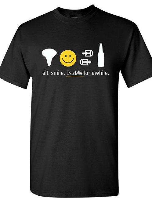 Sit. Smile. PedAle for awhile T-Shirt