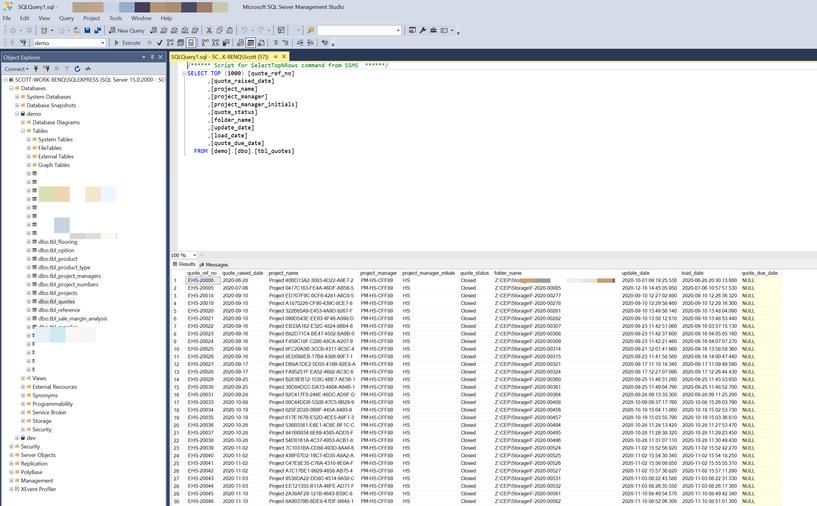 SQL Database mangagement view