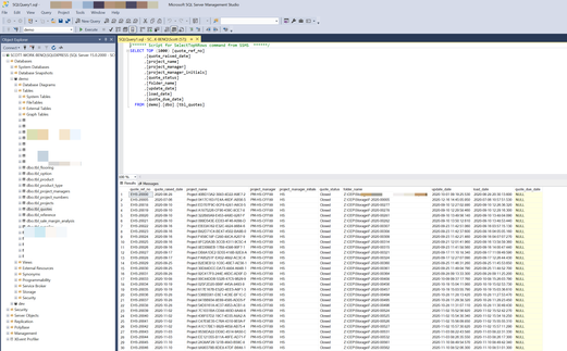 SQL Database mangagement view