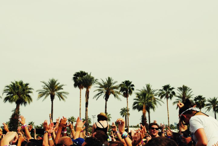 crowd of people at Coachella
