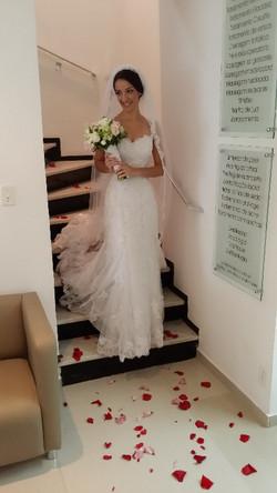 E com a mais bela noiva!