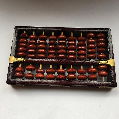 abacus hout china telraam kralen bruin