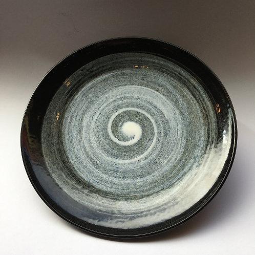 Diner bord zwart/grijs 25,5cm