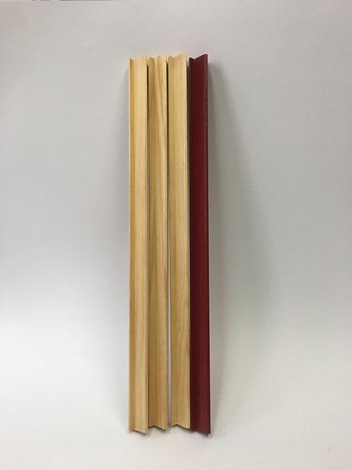 Set van 4 rubberwood Mahjongglatten met een lengte van 35cm