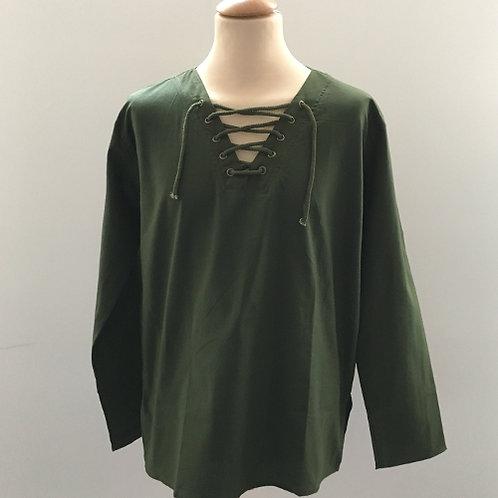 veter shirt man mannen Nepal katoen groen army green