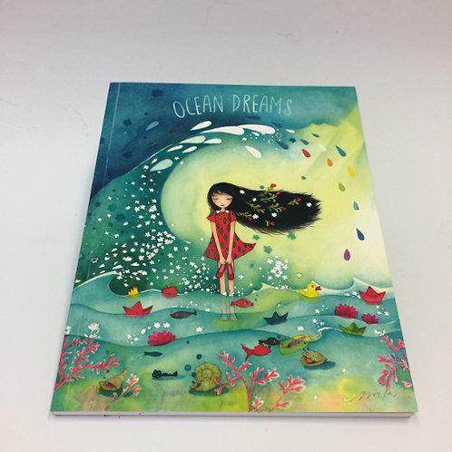 """A5 formaat schrift """"Ocean Dreams"""" . 96 pagina's gelinieerd 17x22cm"""