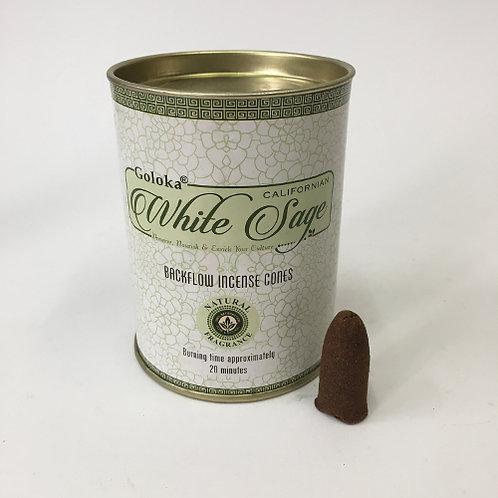 Nature's  White Sage Backflow wierookkegels incense