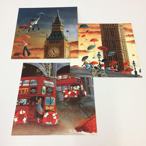 3 Ansichtkaarten