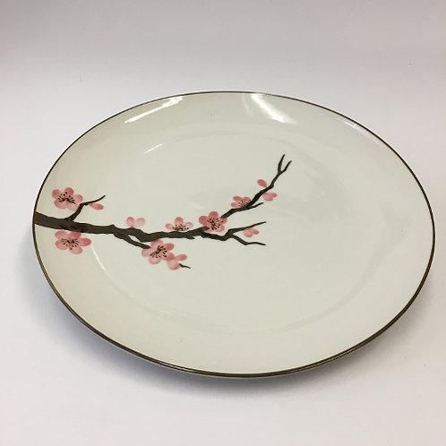 Dinerbord met roze bloesem 25cm