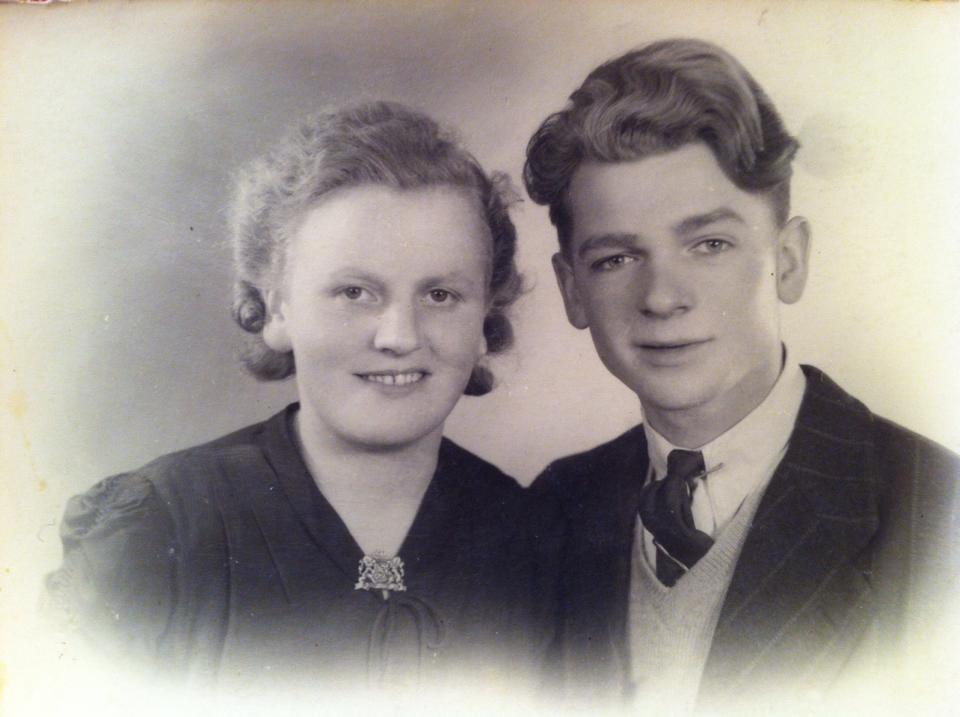 Mijn opa en oma in 1946