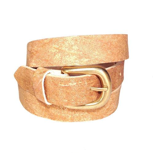 Natural Brown Leather Belt | F002