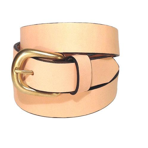 Beige Leather Belt | F003