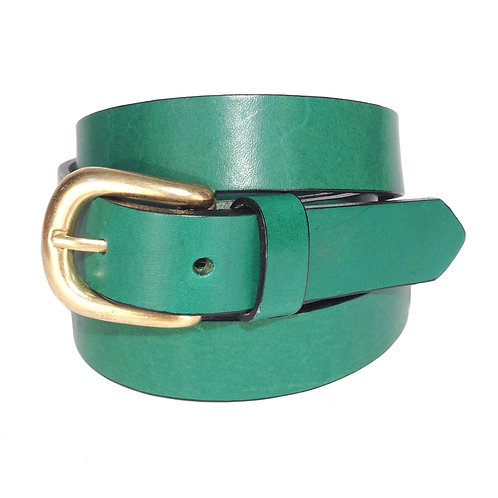 Green Leather Belt | F008