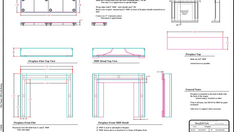 Drafting of Fireplace
