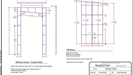 Drafting of Door Frame and Door