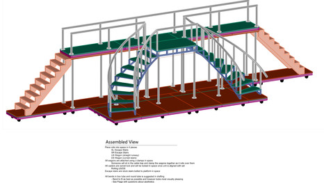 3D drafting of staircase