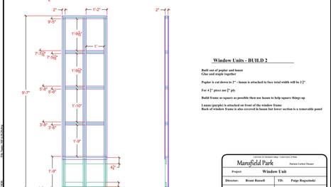 Window Seat Drafting
