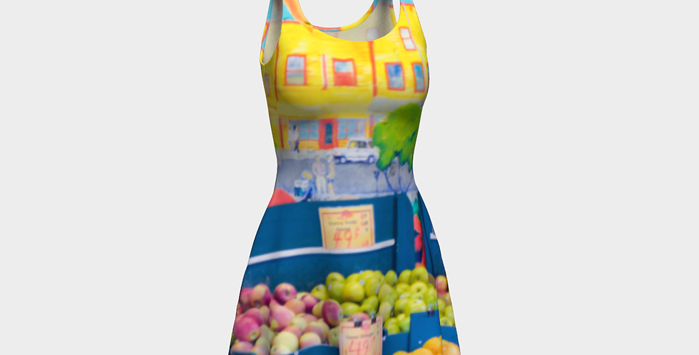 Apples To Oranges Flare Dress