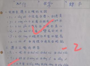 遠距教學成果分享-青少年兒童華語中級五班