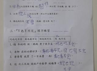 遠距教學成果分享-青少年兒童華語中級七班