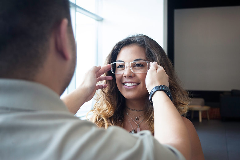 Expert opticians provide multiple services such as fitting, troubleshooting, adjustments, and measurments.