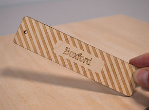 Personalised laser cut plywood bookmark