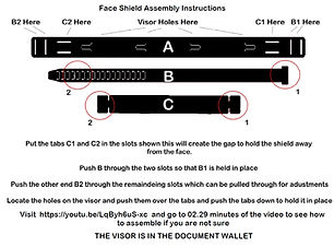 Face Shield Assembly Drawing