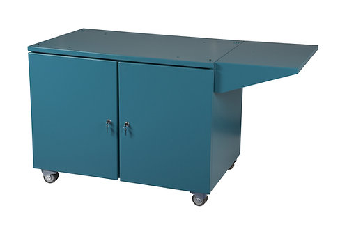 Cabinet base with braked castors, shelf and lockable doors (COLLECTION ONLY)
