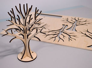 Laser cut plywood jewellery tree