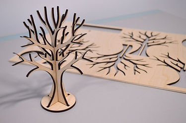 Laser cut plywood jewelry tree 3D project