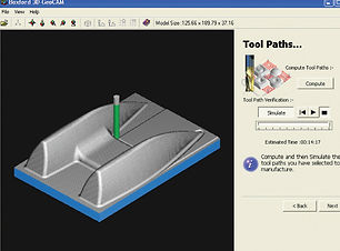 CAD/CAM desgn tols software screenshot